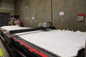 Radium cuts insulation material at Thermaxx