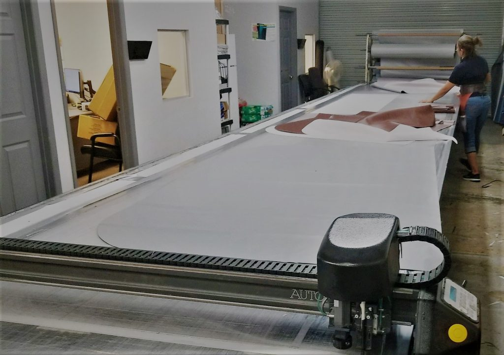Blue Waters Spa Covers using Autometrix Cutting Table