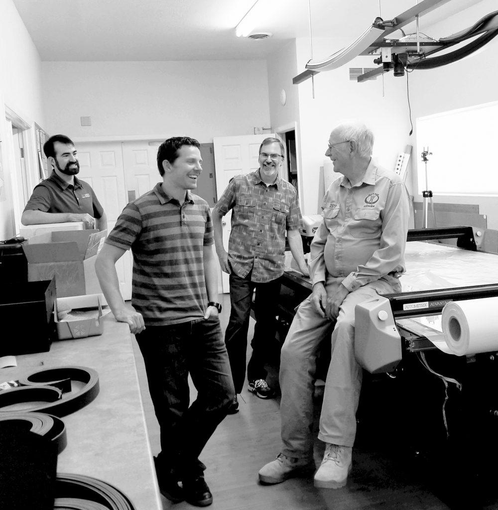 Ed Johnson of Ruff Tuff with Autometrix Staff