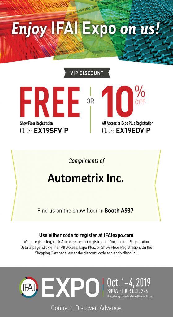 IFAI Trade Show Booth Autometrix